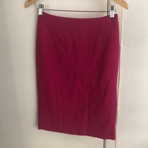 Banana Republic Hot Pink Pencil Skirt